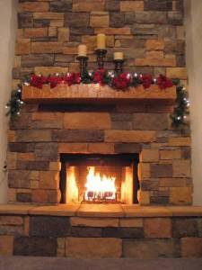 Wyatt Family Mantel Log and Beam Mantel (style #1003 Country) is Hand-Hewn in Oak wood.
