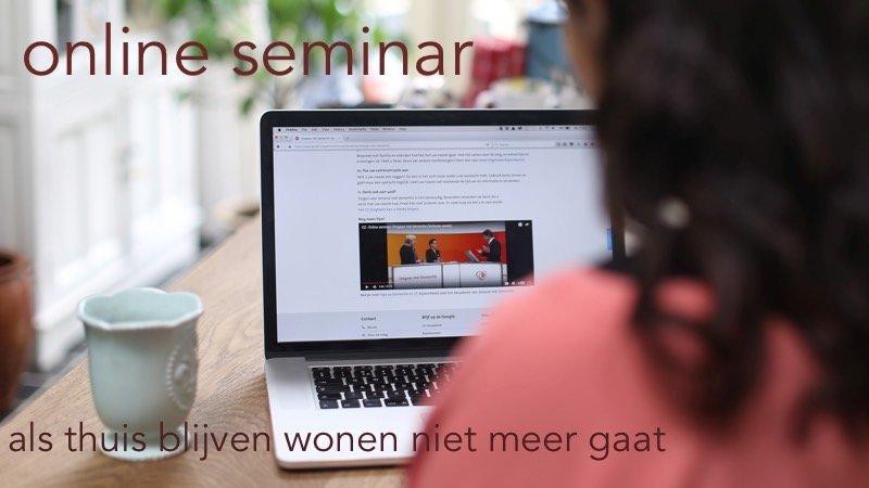 Morgen Houdt CZ Een Online Seminar Voor Mantelzorgers Van Een Dierbare Met Dementie