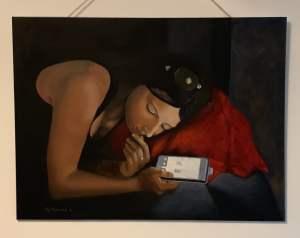 Robin, oil on canvas
