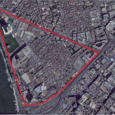 صورة من جوجل إيرث لمنطقة مثلث ماسبيرو