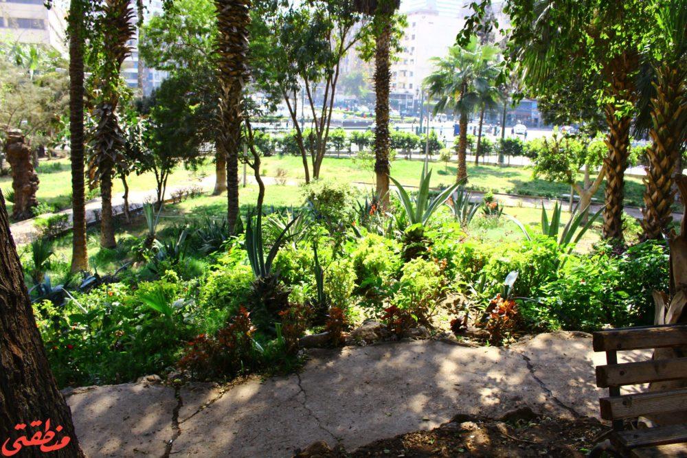 جانب من حديقة الأزبكية - تصوير: صديق البخشونجي