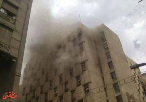 """حتى الآن.. 17 مصابًا في حريق """"التأمينات الاجتماعية"""" بالألفي"""