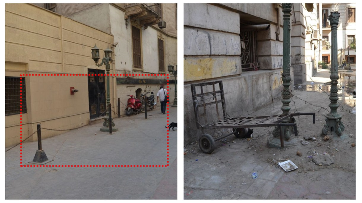 ووجود عوائق ومصدات في شارع المهراني تعوض أيضًا حركة المشاه