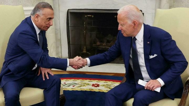 بايدن يتفق مع الكاظمي على إنهاء مهام بلاده القتالية في العراق بحلول نهاية العام