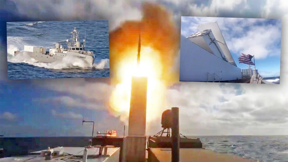 """فيديو لسفينة """"Ghost Fleet"""" وهي تطلق صاروخ SM-6 من قاذفة معيارية لمحة عن المستقبل  🚀"""