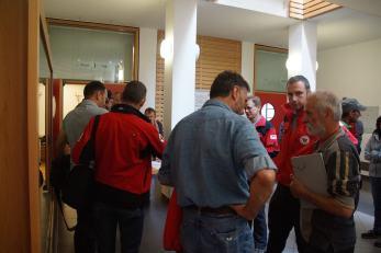 Informationsveranstaltung für Südtiroler Rettungskräfte-Diskussionen in der Pause