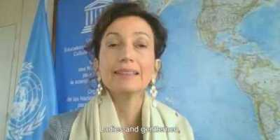 Launch of the World Water Development Report, message by Audrey Azoulay, Director-General of UNESCO.