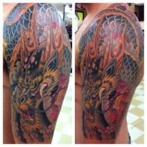 Dragon tattoo by Ben Parker