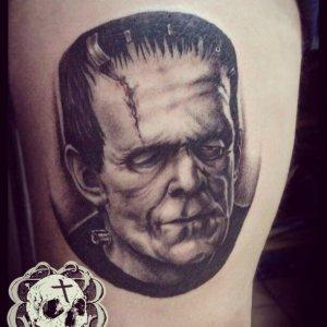 Horror realism tattoo