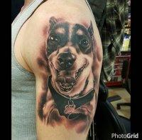 pet portrait tattoo