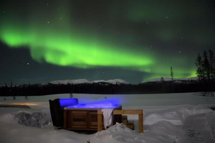 Aurora Bubble Sled Camping In The Arctic Under The