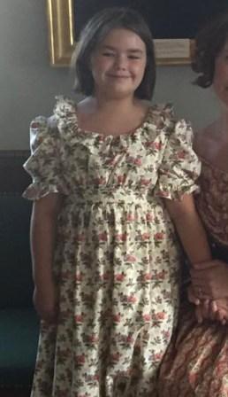 1830 Girl's Dress, Bodiced Petticoat and Pantaloons