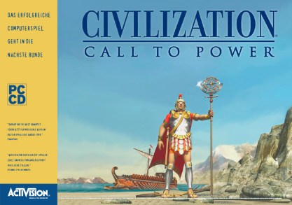 Anzeige für »Civilization – Call to Power«, ein Strategiespiel von Activision (Layout 1999)