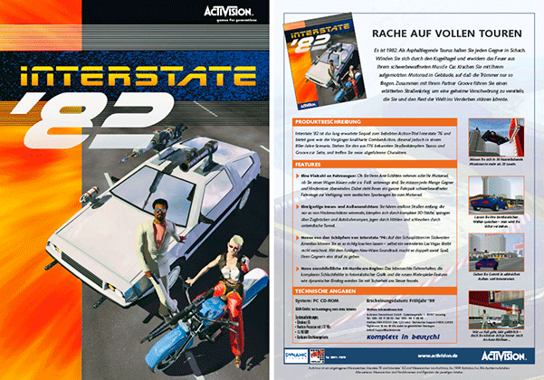 Sales Sheet »Interstate 82« PC-Spiel/Activision