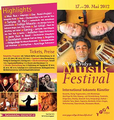 »Yoga Vidya Musikfestival 2012« Faltblatt