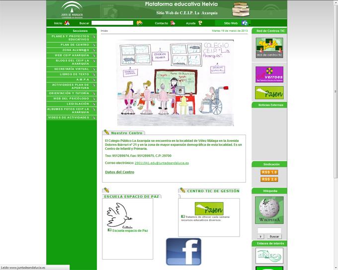 Colegio Axarquía – Gana concurso de dibujo sobre Internet