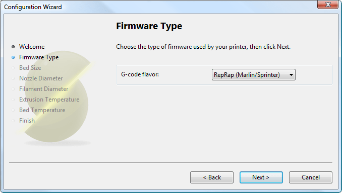 Configuration Wizard: Firmware Type