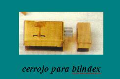 CERROJOS DE DOBLE PALETA: blindex