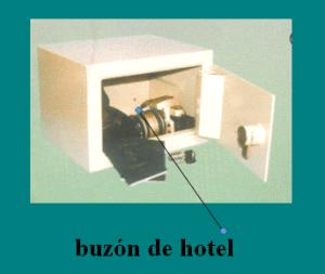 CAJAS FUERTES DE ALTA SEGURIDAD: buzón de hotel