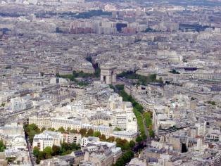 Arco do Triunfo visto da Tour Eiffel