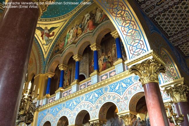 Interior do Castelo de Neuschwanstein, Alemanha