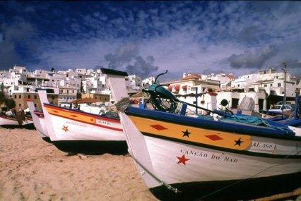 Vila pesqueira no Algarve
