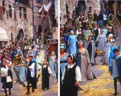 Calendimaggio, festa medieval em Assis, Umbria