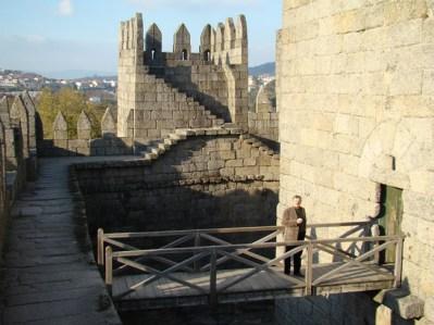 Castelo da Idade Média em Guimarães, Portugal