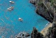 Costa Amalfitana, praia entre rochedos
