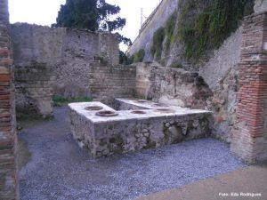 Cantina da época romna, Herculano, Itália - Foto Edu Rodrigues