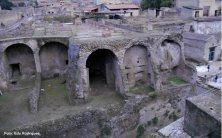 Ruínas do período romano, em Herculano, Itália