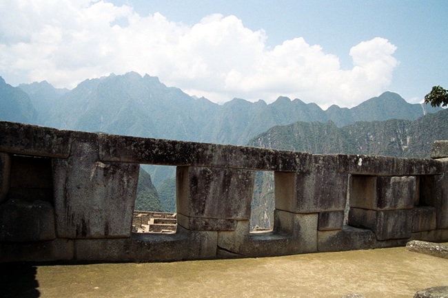 Construção incaica em Machu Picchu, Peru