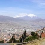 La Paz, Bolívia, vista panorâmica da cidade