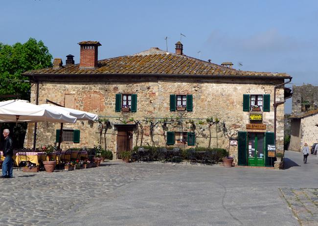 Monteriggioni, na Toscana, Itália