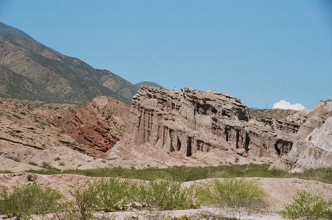 O relevo acidentado dos Valles Chacaltíes