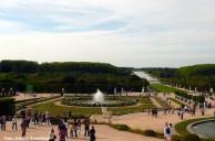 Os jardins do castelo de Versalhes, na França