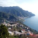 Vista dos terraços de Ravello, Itália