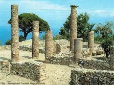 Tindari, casa romana, I a.C, Sicília, Itália
