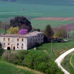 Estradinha pitoresca na Toscana