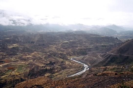 Vale do Colca, Peru, mapa