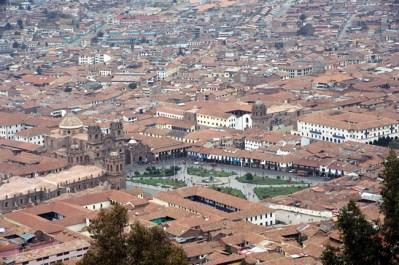 Vista panorâmica de Cusco, Peru