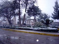 nevasca em Chivay, Vale do Colca