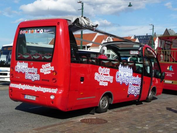 ônibus na Noruega