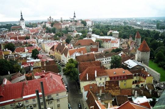 A cidade de Tallin, Estônia