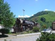 Antiga locomotiva em Bananal, SP