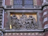 Arquitetura, detalhes, Amsterdã, Holanda