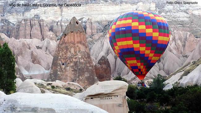 Balonismo em Goreme, Turquia