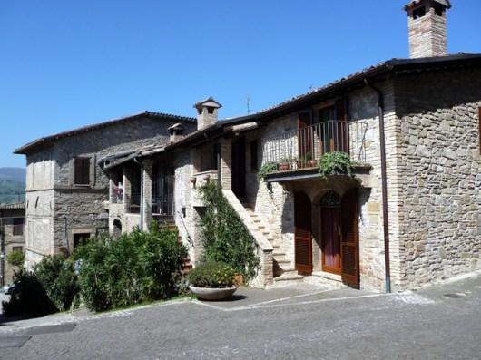 Bevagna, cidade medieval na Umbria, Itália