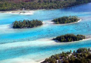 Bora Bora, Polinésia francesa, ilhas da laguna