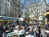 Café no bairro do Marais, Paris, França